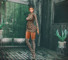 Walk It Out With Me (SueGeeli DeCuir) Tags: designershowcase furtacor dress boots lelutka slink kosmetik eyeshadow lipstick doux amitieposes paparazzi lumipro pinkfuel aviglam michan plastik secondlife virtualworld blog blogger styleitup styleitupsl