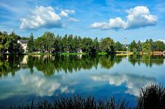 Sky in water (Grzesiek.) Tags: pond woda water cloud cloudscape chmury sky niebo kamiennagóra