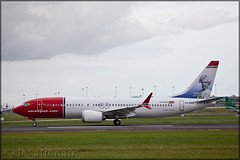 LN-BKB Boeing 737-MAX8 Norwegian Air Shuttle (elevationair ✈) Tags: dublin airport dublinairport dub eidw avgeek aviation airplane aircraft plane arrival landing norwegian norwegianairshuttle norshuttle boeing 737 boeing737max8 lnbkb