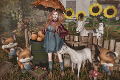 Early Autumn (Gabriella Marshdevil ~ Trying to catch up!) Tags: sl secondlife cute kawaii doll autumn arcade moonamore sese mishmish doe catwa bento