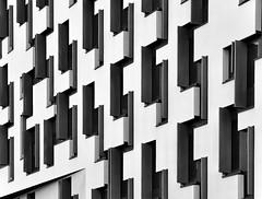 windows (heinzkren) Tags: architecture architektur fenster windows facade fassade schwarzweis blackandwhite bw sw monochrome panasonic lumix lines building symmetry wu wirtschaftsuniversität wien vienna abstract structures