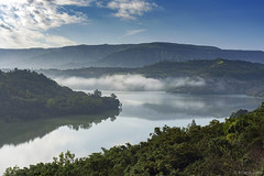 Moody Morning (Joshi Anand) Tags: anand joshi anandjoshi india pune nature outdoor westernghats westmaharashtra waterbody dam reservoir bhor bhatghar morning sky clouds forest bush dramatic reflection moody atmospheric distagont450 carlzeiss nifty fifty distagont 50mm