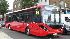 P1130278 1285 YX68 UJC at Mile End Station Grove Road Mile End London (LJ61 GXN (was LK60 HPJ)) Tags: ctplus hackneycommunitytransportgroup enviro200 enviro200d e200d enviro200mmc enviro200dmmc mmc majormodelchange 109m 10870mm 1285 yx68ujc h2973