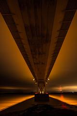 under the bridge (Twiglet Images) Tags: nikon severn bridge night nocturnal time shoot under underneath river estuary tide tidal