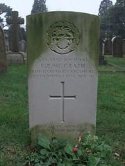Serjeant Edward Patrick McGrath (Living in Dorset) Tags: wargrave wardead grave headstone wwii 1941 edwardpatrickmcgrath tedmcgrath wimborneroadcemetery bournemouth dorset england uk gb