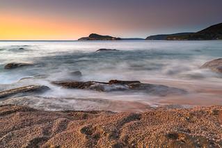 Sunrise, Sea and Shells at the Seaside