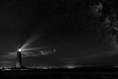 Beacon (Images from the Dark Side) Tags: nash point lighthouse night stars milkyway light