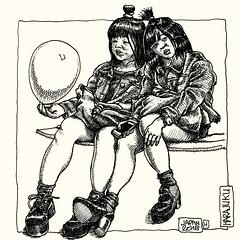 Harajuku (- MrH -) Tags: draw drawing illustration sketch sketchbook blackandwhite bw penandink line linedrwawing japan japanese japanesegirls harajuku tokyo