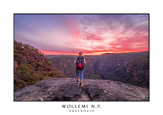 Watching the sunset in Wollemi National Park