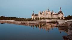 Château de Chambord - Centre Val de Loire . Take with panasonic GX7 and Leica 8-18 (Boutillier Geoffrey) Tags: hour blue sky water reflzt eau jardin pierre histoire travel france exterieur 818 gx7 panasonic castel loire centrevaldeloire chambord château cof033uki
