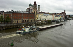 Passau (donachadhu) Tags: boats passau danube sonya77 slta77v barge
