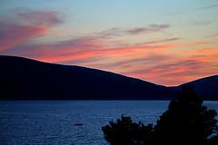 Sea Sunset (superhic) Tags: sunset sea more boat brod fishing sky orange dusk water landscape