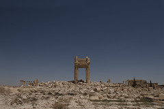 Bel Temple (Hasan Blal) Tags: temple syria palmyra ruins landscape sand sky ancient field photo photography photojournalism war crisi crisis isis army