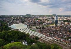 Blick über Liège (kultpix) Tags: lüttich bahnhof santiagocalatrava wallonie liège stadt belgien architektur guillemins landschaft gebäude