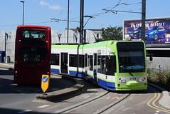 CT 2544 @ West Croydon bus station (ianjpoole) Tags: croydon tramlink bombardier cr4000 2544 working service from wimbledon elmers end