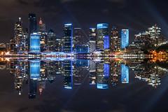 sydney vivid (Greg M Rohan) Tags: harbour architecture building buildings skyscrapers skyscraper skyline cityscape city vividfestival vivid laserbeam laser beam beams blue longexposure nightphotography nightlights lights sydneyharbour sydneycity sydney australia d750 2018 nikon nikkor