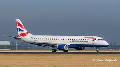 G-LCYJ   Embraer ERJ-190 - BA CityFlyer (Peter Beljaards) Tags: embraererj190 bacityflyer glcyj polderbaan aircraft airplane ams eham nikon nikond5500 nikon70300mmf4556 aviationphotography schiphol rwy18r