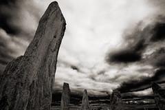 Callanish Stones (albireo 2006) Tags: scotland uk lewisandharris calanaisstandingstones callanishstones callanishstandingstones clachanchalanais neolithic stonecircle blackwhitephotos blackandwhite blackandwhitephotos blackwhite bn bw