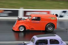 Orange Pop_2571 (Fast an' Bulbous) Tags: drag race car vehicle automobile fast speed power acceleration racecar santa pod outdoor nikon oldtimer