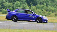 High-steppin' Evo (R.A. Killmer) Tags: 2018 nikon d750 blue awd evo mitsu scca cone course central pa midstate airport fast horsepower race racer racing drive driver