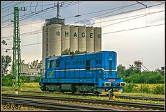 742 115-9 (Zoly060-DA) Tags: hungary puspokladany country city private freight operator ex cd class 742 diesel bo locomotive blue red green grey storm rail rails railway lines light engine number 115