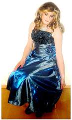 blue ballgown (Martina H.) Tags: formal prom dress gown blue girl woman ball party cocktail elegant beauty satin