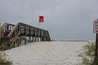 Double Red Flags - Pensacola Beach, Florida