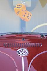 Fuzzy Dice (chearn73) Tags: vw volkswagon car badge winnipeg manitoba fuzzydice classiccar volkswagen