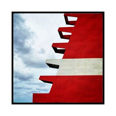 Boat chimney (Jean-Louis DUMAS) Tags: artistique artistic art abstrait abstraction abstract nuage cloud sky ciel rouge red chimney cheminée