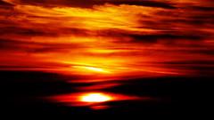 red (Darek Drapala) Tags: reflection reflects red sun sky silhouette sunset skyskape evening nature lumix light panasonic poland polska panasonicg5 baltic sea seashore