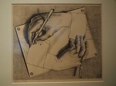 Drawing hands; M. C. Escher; 1948 (M_Strasser) Tags: escher mcescher olympus olympusomdem1 holland netherlands