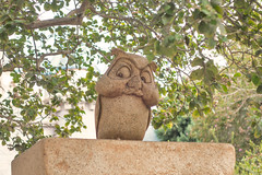 Unamused (kalikko) Tags: california cali disneyland disney californiaadventure santabarbara anaheim owl statue sleepingbeauty