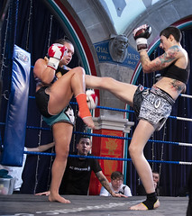 Farah McAdam (Griphouse) v Kirsty McBeath (ACC) (duncan_ireland) Tags: oran mor oranmor glasgow muay thai muaythai fighting fight show fightshow griphouse griphouseglasgow guy ramsay guyramsay oranmorxi boxing thaiboxing farah mcadam farahmcadam kirsty mcbeath kirstymcbeath acc aberdeencombatcentre