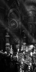 Lothric Cathedral [alt.] (D4l41L4m4) Tags: fromsoftware bandainamco bandainamcoentertainment darksoulsiii darksouls3 darksouls ds games gaming game pc reshade building statues road doors entrance monochrome blackandwhite blackwhite bw