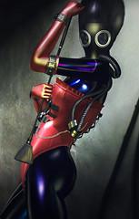 Fetishism (Opale Lily) Tags: bdsm fetish latex gas mask corset schadenfreude suicidedollz event ninksdesigns aerial