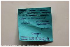 Shopping list   Boodschappenlijstje #534 (Dit is Suzanne) Tags: 07072015 ©ditissuzanne canoneos40d sigma18250mm13563hsm boodschappenlijstje shoppinglist списокпокупок postit letter буква eieren brood kwark vis crackers aardappels vloei bananen shag wijn vlierbessen vleesdo pindasaus gehaktballen paturain chips beschikbaarlicht availablelight views50