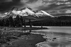 Mount Unwin, Maligne Lake (martincarlisle) Tags: mountunwin malignelake jaspernationalpark alberta canada canadianrockies rockymountains rockies nationalparks mountainparks parks rocks clouds mountainlakes sonycameras sigmalenses captureonepro11 tkactions nwn wow
