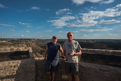 Paul and I - Palo Duro Canyon State Park - Randall County - Texas - 13 October 2017 (goatlockerguns) Tags: canyon view palo duro state park randall county texas south southern southwest desert nature natural usa unitedstatesofamerica hiking hills caves