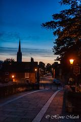 Day 237: Bishop Bridge (Howie1967) Tags: sunset city east anglia england historic norfolk skyline spire tree street light