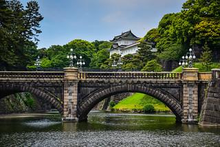 Imperial Palace Guardhouse and Seimon Ishibashi bridge - Tokyo Japan