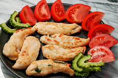 sasami-saute-sandwiched-with-green-perilla-leaves-and-cheese_010918 (kazua0213) Tags: foveon sigma quattro cuisine