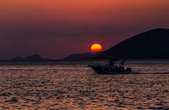 Welcoming autumn with a magical sunset (Vagelis Pikoulas) Tags: autumn sun sunset porto germeno greece europe boat september 2018 sea seascape landscape tamron vc 70200mm view canon 6d colors colours