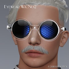 HAYSURIZA_Eyewear_Wa02.pop02 (HAYSURIZA) Tags: glasses sunglasses eyewear secondlife haysuriza accessories elegant golden silver transparent lens 3d object mesh polygon glass crystal megane