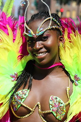 cage bra (Chuck Diesel) Tags: westindiandayparade2018 caribbeancarnival brooklyn nyc newyorkcity costume masquerader easternparkway darkskin petite smile weave