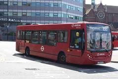 AL ENL27 @ West Croydon bus station (ianjpoole) Tags: arriva london alexander dennis enviro 200 lj58avd enl27 working route 166 west croydon bus station marks spencer banstead