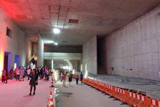Karlsruhe Strassenbahn Tunnel Baustelle, Haltestelle Marktplatz
