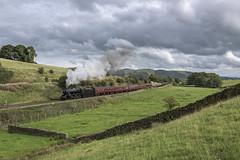 A Brief Glimpse (4486Merlin) Tags: 48151 england europe exlms lms8fbigeight northwest northyorkshire railways steam transport unitedkingdom settle gbr briefencountersteamspecial carnforthstationheritagecentre wcrc carrbeck giggleswick