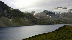 Jostedal Glacier (abrideu) Tags: abrideu canoneos100d jostedalglacier mountain mountains water lake sky ice snow grass norway landscape mountainside ngc