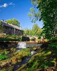 Borgvik (JHaffling) Tags: sweden borgvik värmland waterfall water old trees stream moss sky ruin furnace blast