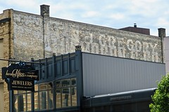 Ghost Sign, Saginaw, MI (Robby Virus) Tags: baycity michigan mi gregory ghost sign signage faded forgotten wall ad advertisement painted herman hiss company co jewelers jewelry store business1867